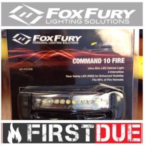 Command 10 Fire Helmet Light Donated by First Due and Foxfury