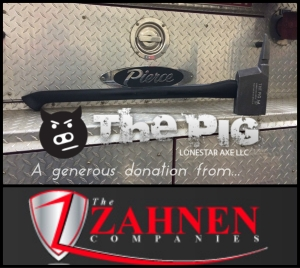 The PIG Forcible Entry Tool  Donated by The Zahnen Companies